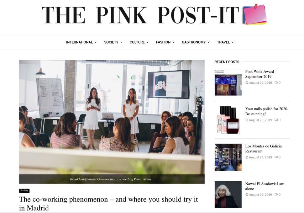 Cover The Pink Post-it. Top 3 Coworkings in Madrid