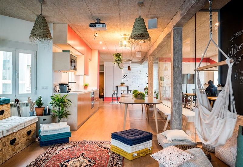 COLIVING-MADRID-MELLADO-COMMON AREA