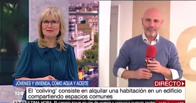 Tele Madrid 120 minutos Coliving Urban Campus