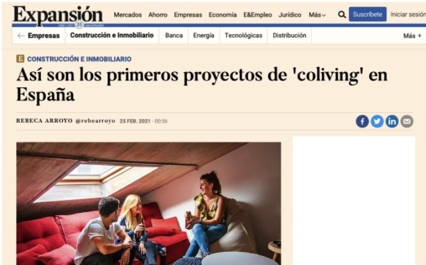 First Coliving projects in Spain by Expansión
