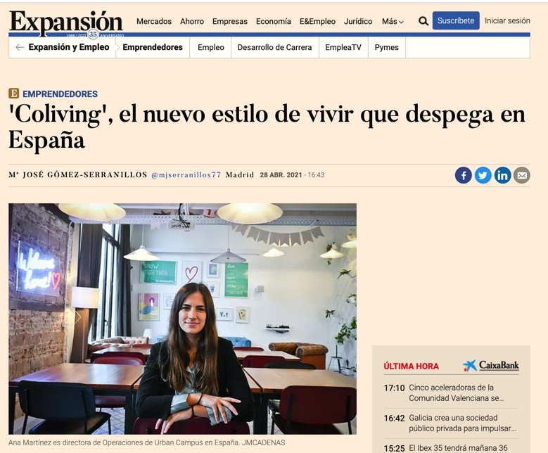 'Coliving' the new style of living that takes off in Spain